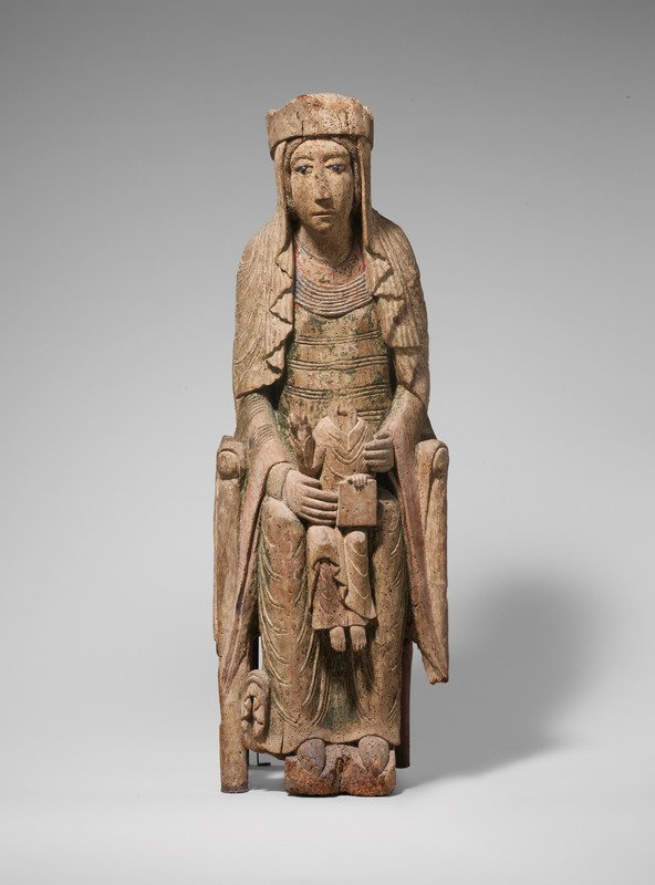 Enthroned Virgin and Child(front), Vicinity of Autun, ca. 1130-1140