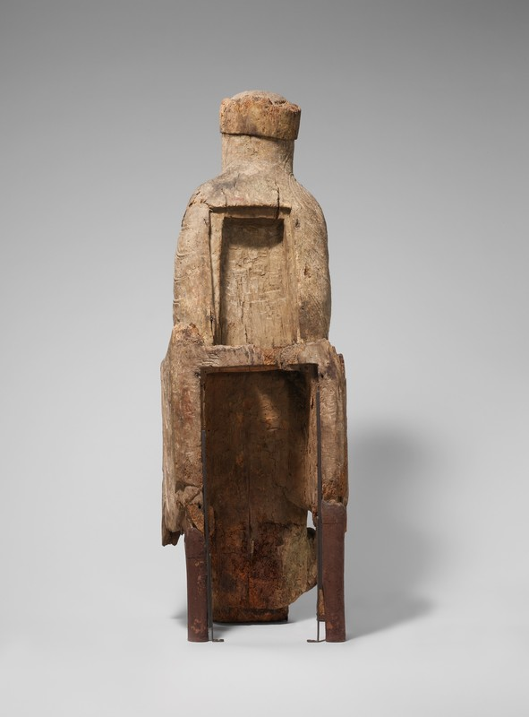 Enthroned Virgin and Child(back), Vicinity of Autun, France, ca. 1130-1140