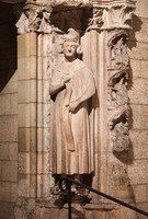 The Doorway of Moutiers-Saint-Jean at the Cloisters Museum, originally from Burgundy France, ca. 1250.<br />